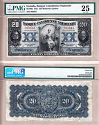 Scarce 1925 20 Banque Canadienne Nationale Large Size Pmg Very Fine 25
