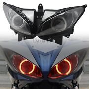 Red Fully Assembled Projector Headlight Angel Eyes Fits For Yamaha Fz6s 03-09