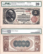 1882 Bb 5 The City National Bank Of Gloucester Ma Fr.474 Ch2292. Pmg Vf20