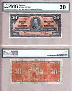 1937 50 Kgvi Bank Of Canada Scarcer Osborne And Towers Bc-26a. Pmg Vf20