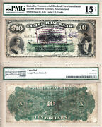 1888 10 Commercial Bank Of Newfoundland Pmg Choice Fine 15