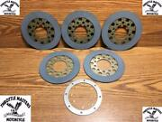 Heavy Duty Clutch Friction Plates For Harley 4 Speed Flh Replaces Oem 37930-68