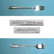 Towle Sterling 5 3/4 Seafood / Cocktail Forks Silver Flutes No Mono