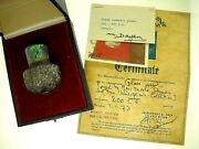 Ex. Moshe Dayan Collection-roman Era Glass Cosmetic Jar-provenance And Certificate