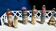 Lot Victorian Toiletries For Dollhouse - Old Fashioned Bottles Etc 112 Scale