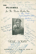 Here Today Play Cast - Inscribed Show Bill Signed With Co-signers