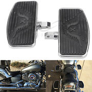 2pcs Motorcycle Front Rider Floorboards Footpeg For Honda Shadow Ace Vt400/750