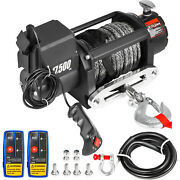 17500lbs Electric Winch Waterproof Truck Trailer 85ft Synthetic Rope Off-road