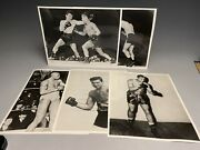 Lot Of Old 8x10 Glossy Boxing Photos Rocky Graziano Jack Johnson And More
