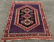 Fine Early 20th Century Middle Eastern Rug Interesting Design And Colours