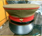 Wwii Imperial Japanese Army Officerand039s Wool Visor Crusher Cap All Sizes Available