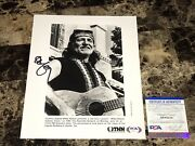 Willie Nelson Autographed Promo Press Photo Signed Country Music Legend Psa Dna