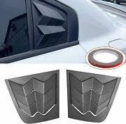 Side Window Louvers Air Vent Scoop Shades Cover Trim Abs For Dodge Charger 2011+