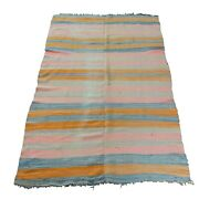 Late 19th/ Early 20th C. Native American Striped Blanket
