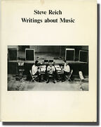 Steve Reich Writings About Music First Edition Inscribed To Paul Signed 99584