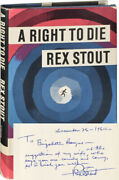 Rex Stout A Right To Die Signed First Edition 1964 123900