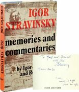 Igor Memories And Commentaries First Uk Edition Signed By Stravinsky 131748