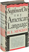 H L Mencken American Language Supplements One And Two Hardcover Two 136272