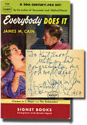 James M Cain Everybody Does It First Edition In Paperback Signed 143174