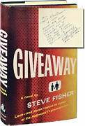 Steve Fisher Giveaway Signed First Edition Inscribed To Film Producer 143212