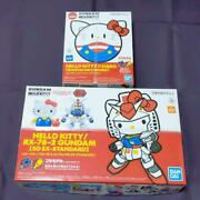 New Gundam Rx-78-2 Hello Kitty Sd Ex-standard And Halo Set From Japan Figures 78