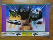 Vintage 1990 Universal Studios Back To The Future - King Kong - E.t. Jaws Poster