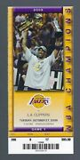 2009 Nba Clippers @ Lakers Championship Ring Ceremony Full Ticket - Kobe Bryant