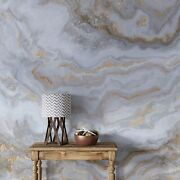 White Marble Stone Granite Slate Peel And Stick Wallpaper   Removable Wall Mural