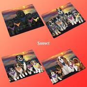 Family Sunset Dog Cat Tempered Glass Kitchen Cutting Boardpet Photo Lovers Gift
