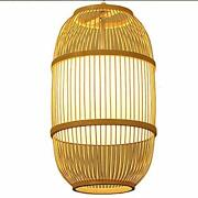 Chinese Style Bedside Japanese Restaurant Bar Table Lamp Bamboo Weave Zen