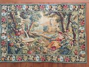 La Fontaine 28andrdquox 41andrdquo European Woven Tapestry Wall Hanging Made In France - New