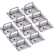 10x Stainless Steel Boat Deck Floor Pull Lift Handle Buckle Flush Mount Hatch