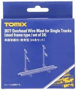 Tomix 3077 Overhead Wire Mast For Single Tracks 24 Pcs N Scale F/s W/track