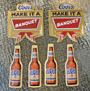 New 6 Lot Bottle Sign Coors Banquet Beer Christmas Ornaments Decoration Nos