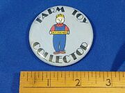 Vtg 70s-80s Farm Toy Collector Tractor Motor Engine Thresher Pinback Button Show