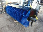 New 2021 Skid Steer Broom / Sweeper Attachment 72 Wide - Fits All Universal