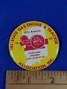 1983 Tri-state Gasoline And Tractor Assoc Show Portlandindiana Pinback Button Vtg