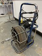 Used 100' X 3/4 Power Electric Eel Drain Cleaner Clogged Main Drain Pipe Snake