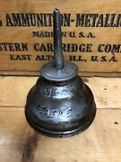 Vintage Eagle Thumb Oiler Oil Can With Straight Spout Steel Color 5andrdquo