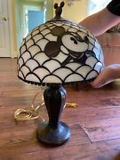 Rare Mickey/minnie Mouse Table Lamp Andmdash Stained Glass Style. Underpriced