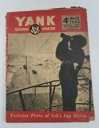 Vintage March 17 1944 Yank Down Under Magazine Wwii, With Joe Lewis, Pinup H