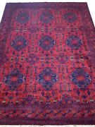 13 X 10 Khal Momadi Geometric 155 X 118 In Hand-knotted Red Soft Pile Rug
