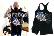 Wwe Luke Gallows Hand Signed Event Used Ring Worn Singlet With Proof And Coa 1