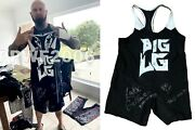 Wwe Luke Gallows Hand Signed Event Used Ring Worn Singlet With Proof And Coa 2
