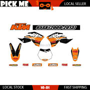 Motorcycle Sticker Decal Kit For Ktm 65 Sx 2009 2010 2011 2012 2013 Graphics Kit