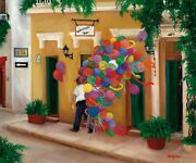Betty Lou Barry Original Acrylic Balloons On The Calle Cartagena Colombia