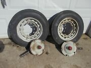 Ford 8n Series Tractor Steering Spindle Shafts Hub Hubs 5 Bolt 16 Rims And Tires