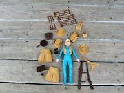 Marx Toys Johnny West Series Jane West With All The Pictured Accessories