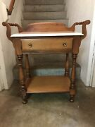 Rare Tell City Chair Company Solid Hard Rock Maple Andover Washstand