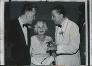 1956 Press Photo Governor Robert Meyner W/ Mother And Frank Lausche, State Dinner
